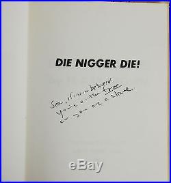 Die Nigger Die! SIGNED H. RAP BROWN & Kunstler First Edition 1969 Black Panthers