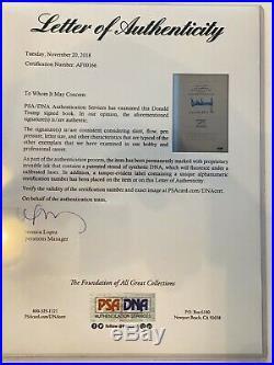 Donald Trump Signed Autograph Surviving At The Top 1st Edition Book Coa Psa Rare