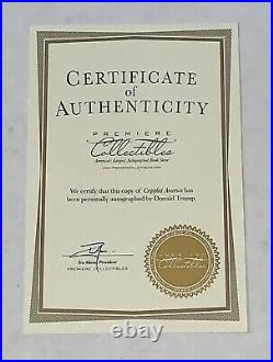 Donald Trump signed Crippled America First Edition Book With COA Limited Edition