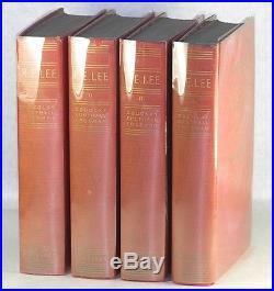 Douglas Southall FREEMAN R. E. Lee 4-VOLUME SET BIOGRAPHY SIGNED FIRST EDITION