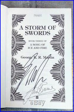 Dual SIGNED A Game Of Thrones True 1st Edition Set First Print George R R Martin