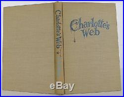 E. B. WHITE Charlotte's Web SIGNED FIRST EDITION