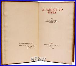 E. M. FORSTER A Passage to India LIMITED SIGNED FIRST EDITION