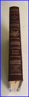 EASTON PRESS Ronald Reagan A SHINING CITY SIGNED FIRST EDITION LEATHER