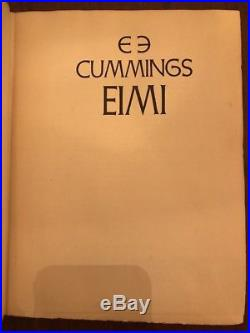 EIMI E E CUMMINGS 1st Limited Edition Signed First 1st 1168 1381 EE