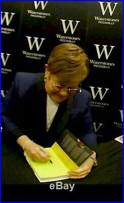 ELTON JOHN ME autographed hand signed hardcover book 1st edition 2019 London