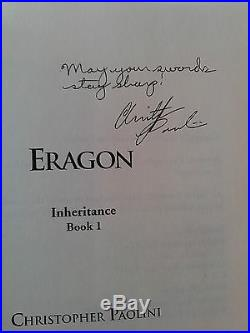 ERAGON True first edition SIGNED by the author