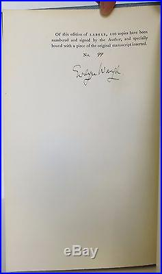 EVELYN WAUGH Labels SIGNED LIMITED FIRST EDITION