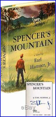 Earl HAMNER, Jr / Spencer's Mountain Signed 1st Edition 1961