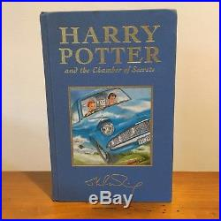 Early Print Harry Potter Deluxe UK Book Set First Edition J K Rowling Signed