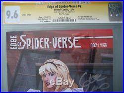 Edge of Spider-Verse #2 Variant CGC 9.6 SS Signed Greg Land 1st Spider Gwen