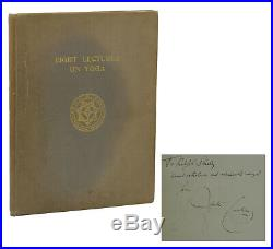 Eight Lectures on Yoga SIGNED by ALEISTER CROWLEY First Edition 1st 1939