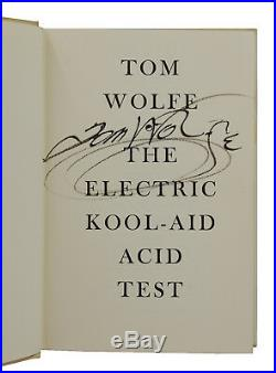 Electric Kool-Aid Acid Test TOM WOLFE Signed First Edition 1st Printing 1968