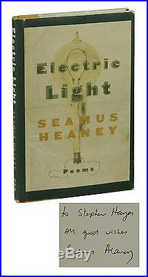 Electric Light SIGNED by SEAMUS HEANEY First Edition 1st Printing 2001