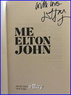 Elton John Me Signed 1st Edition Hardcover Book Piano man