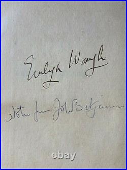 Evelyn Waugh Decline and Fall Signed First Edition 1928 John Betjeman Copy