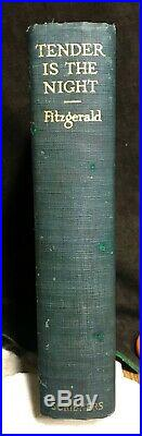F. SCOTT FITZGERALD signed first edition TENDER IS THE NIGHT in dust jacket 1934