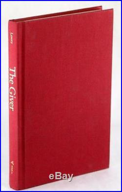 FIRST EDITION SIGNED LOIS LOWRY 1993 THE GIVER NEWBERY WINNER HARDCOVER withDJ