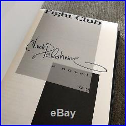 Fight Club Signed First Edition First Printing