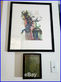 First Edition Alice in Wonderland & Salvador Dali Signed Alice Print