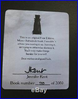 First Edition Signed Babadook Book Limited Edition 785 of 2000