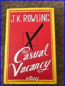 First Edition Signed JK Rowling The Casual Vacancy