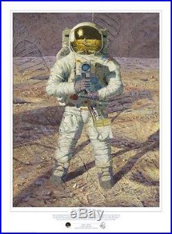 First Men Neil A. Armstrong Astronaut Alan Bean Limited Edition Giclee Print