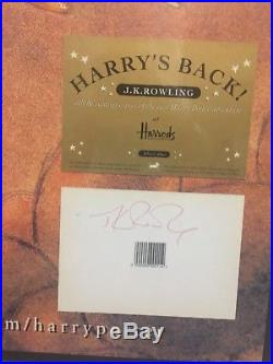 First edition signed Harry Potter book Goblet of fire