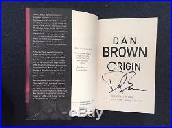 First edition, signed copy. Origin by Dan Brown. (Hardback 2017) BOOK ONLY