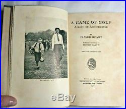 Francis Ouimet Signed Numbered Book A Game Of Golf 1st Edition Uncut Pages News