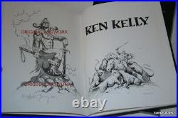 Frank Frazetta / The Art of Ken Kelly Signed 1st Edition 1990