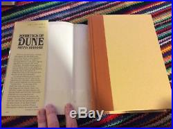 Frank Herbert, SIGNED, Inscribed! Heretics Of Dune, 1st Edition, Beautiful, Mylar