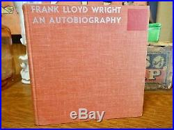 Frank Lloyd Wright An Autobiography SIGNED / AUTOGRAPHED First Edition Book