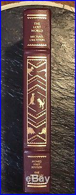 Franklin Library The Lost World Signed First Edition Michael Crichton VG+/NF