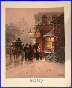 G. Harvey Signed The Toy Shop First Edition Print 1998 1623/1950 Christmas
