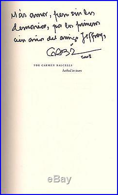 GABRIEL GARCIA MARQUEZ Of Love and Other Demons (1995) SIGNED FIRST EDITION