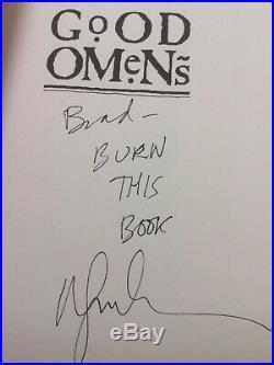 GOOD OMENS Signed by Neil Gaiman & Terry Pratchett First Edition + Bonus Items