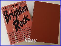 GRAHAM GREENE AUTHENTIC GENUINE SIGNATURE & BRIGHTON ROCK FIRST EDITION 1938