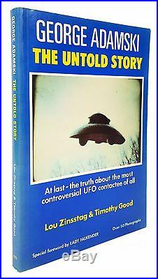 George Adamski The Untold Story FIRST EDITION, SIGNED by Timothy Good UFOs
