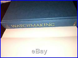 George Daniels SIGNED Book WATCHMAKING Book. RARE. 1981 First Edition. Watch