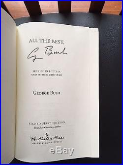 George H. W. Bush All The Best, George Bush Signed Leather First Edition