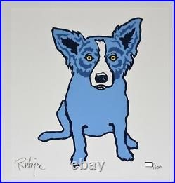 George Rodrigue Blue Dog Untitled First Edition Silkscreen Print Signed Artwork