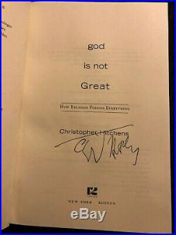 God Is Not Great Inscribed/signed Autograph Christopher Hitchens First Edition