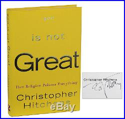 God is Not Great SIGNED by CHRISTOPHER HITCHENS Atheism First Edition 3rd 1st