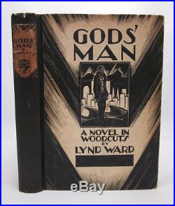 God's Man SIGNED by Lynd Ward First Edition 1929 A Novel in Woodcuts