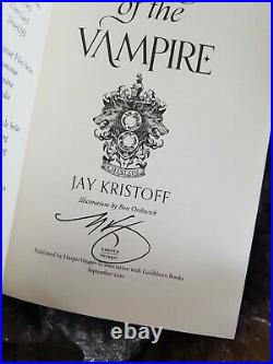 Goldsboro Empire of the Vampire Jay Kristoff SIGNED FIRST EDITION SOLD OUT