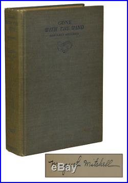 Gone with the Wind SIGNED by MARGARET MITCHELL First Edition 1st May 1936