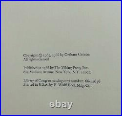 Graham Greene'The Comedians' Signed 1st Edition 1966