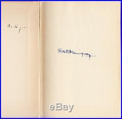 Green Hills Of Africa (1935) Ernest Hemingway Signed, 1st Edition In Original Dj