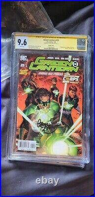 Green Lantern #25 CGC 9.6 Variant 1st appearance Atrocitus Signed Geoff Johns